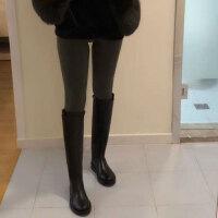 秋冬新款皮靴女长靴不过膝平底女靴高筒靴子马靴骑士靴长筒靴