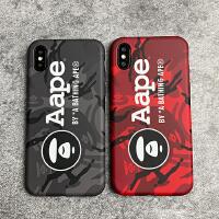 aape猿人头iPhone8X手机壳苹果7plus全包软套Xsmax潮男女6s情侣XR