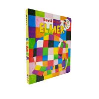 英文原版绘本 Elmer Board Book 花格子大象艾玛 吴敏兰绘本123 美国教育协会推荐百本必读书单 Dav