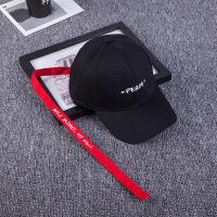 韩版男女士字母长带子棒球帽 弯檐圆顶帽子 街头时尚遮阳鸭舌帽 可调节