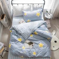 床单三件套学生宿舍单人0.9m 纯棉寝室被套儿童1.2米床上用品女生 高密棉 北极星