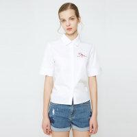 【1件2.5折到手价:56.3】夏装新款MECITY女式箱型衬衫
