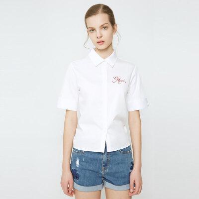 【1件2.5折到手价:56.3】夏装新款MECITY女式箱型衬衫 美特斯邦威超品日,千款限时1件2.5折,还能叠券!