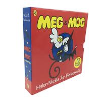 #原版英文童书Meg and Mog 10 books collection女巫麦格和小猫莫格10册礼盒 送音频贴纸 动画视频