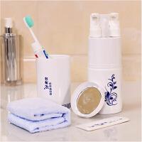 旅游空瓶分装瓶便携洗漱包女男套装洗漱用品出差户外 旅行洗漱杯