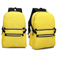 双肩包电脑包 防水面料双肩包 休闲包包 黄色