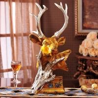 创意欧式鹿头摆件 招财镇宅客厅书房办公室装饰品 个性家居装饰品 鹿头摆件