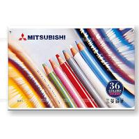 uni日本三菱彩铅油性彩色铅笔专业绘画漫画涂色24色36色铁盒装