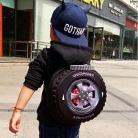 个性儿童书包轮胎书包旅行双肩背包宝宝书包 男孩书包 幼儿园书包