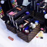 多层化妆箱手提大容量多功能收纳包大号女护肤品盒便携化妆包