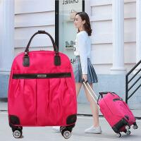 新款拉杆旅行包女手提行李包女大容量韩版旅游包短途旅行袋拉杆包