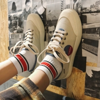 板鞋男潮流帆布鞋夏季男士鞋子低帮运动鞋港风透气休闲鞋