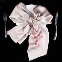 新年优惠【NEW】绣花手工刺绣苏州杭州丝绸围巾丝双面重磅长款桑蚕丝女丝巾