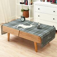 棉麻布艺北欧客厅台布长方形茶几桌布简约冰箱电视柜防尘盖布