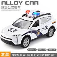 【支持礼品卡】儿童警车玩具车模型仿真汽车车模男孩合金救护车警察车110玩具车 kz7
