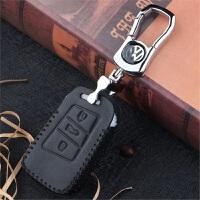 大众全新迈腾b8钥匙包 2017款专用CC钥匙套汽车遥控保护壳扣 3D按键 黑线适用17全新迈腾