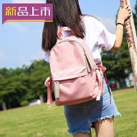 2018牛津布包包双肩包女韩版新款潮帆布防水书包百搭学生电脑背包
