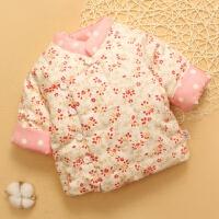 宝宝棉花棉衣婴儿棉袄幼儿童小孩加厚内胆保暖冬季男女 西瓜红 红樱桃