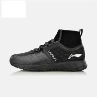 李宁男鞋秋季运动时尚系列男休闲鞋舒适高帮平底袜子鞋子AGLN095