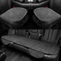 汽车坐垫四季通用单片无靠背三件套夏季亚麻单个屁屁垫座荞麦垫子