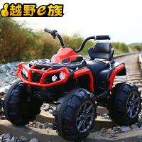 儿童电动车四轮大电瓶越野可坐人的小孩玩具汽车摩托车可坐大人 高配红色 脚踏板启动