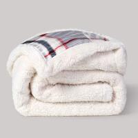 羊羔绒毛毯加厚双层盖毯办公室午休毯法兰绒毯居家沙发毯