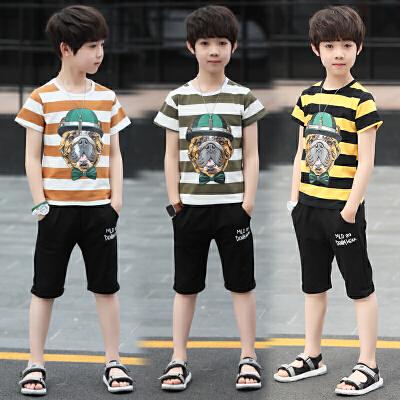 新款套装中大童韩版夏季童装儿童两件套潮衣
