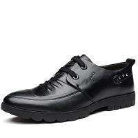 秋季内增高男鞋商务休闲鞋子男士增高鞋男6cm透气系带皮鞋男真皮