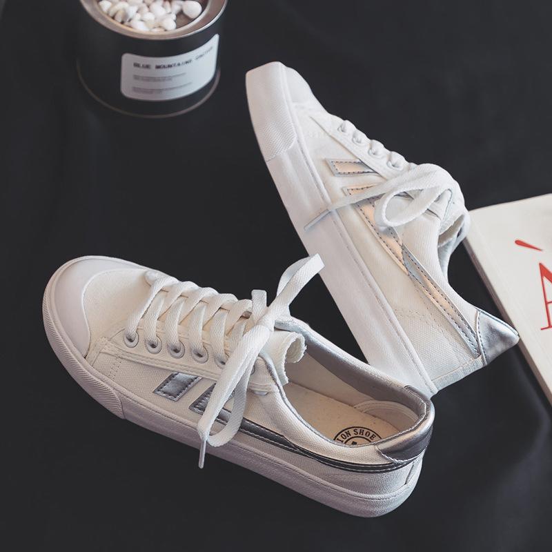 帆布鞋女小白鞋女2019夏季新款透气潮鞋韩版学生百搭春款休闲板鞋夏款布鞋子女0203
