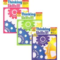 (300减100)【G1-6思维技能】Thinking Skills Grades 1-6 美国加州教材 Evan Moor 3册 学习启发创造性思维能力训练习册 英文原版 附答案