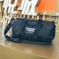 短途旅行包女轻便手提包圆筒健身包男青年运动训练单肩斜跨行李包