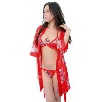 三件套和服性感日式女士情趣内衣套装7940用品 红色