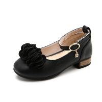 童鞋女童鞋子黑色皮鞋小女孩公主鞋韩版 儿童单鞋春秋2018新款