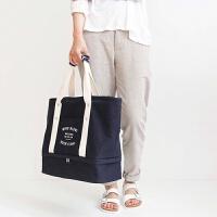 旅行收纳包衣物整理袋收纳袋旅游折叠包拉杆箱行李包单肩手提包 大