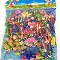 批发口哨子气球金丝创意儿童玩具宝宝生日派对小礼品带响的汽球