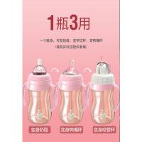 宝宝水杯儿童吸管杯幼儿园喝水杯学饮杯带手柄便携饮水杯
