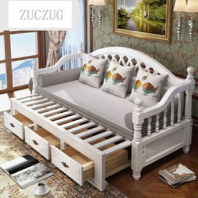 ZUCZUG欧式实木沙发床多功能推拉两用1.2米1.5米小户型客厅折叠沙发床 一般在付款后3-90天左右发货,具体发货时间请以与客服协商的时间为准