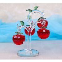 水晶苹果树小摆件客厅电视酒柜招财摇钱树创意结婚礼物家居装饰品