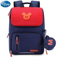 迪士尼男童小学生书包1-3-5年级女童4儿童男孩背包6双肩米奇休闲