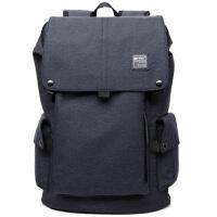 韩版商务背包男士旅行双肩包书包定型电脑包潮包大学生休闲背包