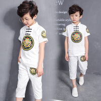 男童夏装新款套装 夏季童装男孩中大童衣服潮