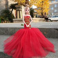 ?中国莉莲芭比娃娃衣服裙子短裙公主裙连衣裙长裙婚纱礼服女孩玩具? 红色 仅指衣服不含娃娃 仅指衣服不含娃