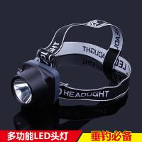 夜钓灯多功能LED钓鱼灯 照明灯充电电池远射强光充电头戴灯