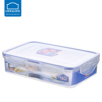 �房�房郾ur盒塑料微波�t�盒旗�店密封盒便�y分隔便��盒水果盒 800ml【3分隔】