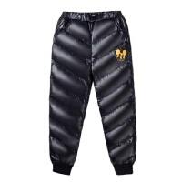 儿童羽绒裤女童加厚保暖羽绒棉裤男童冬季加绒外穿中大童2018新款