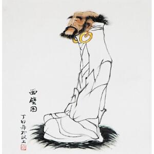 张洪峰《面壁图》a10