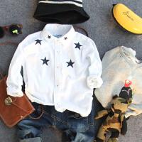 儿童白衬衫春秋冬童装新品男童宝宝星星印花长袖衬衣百搭
