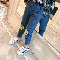 女童牛仔裤春装新款韩版儿童百搭高腰小脚裤宝宝显瘦弹力裤子
