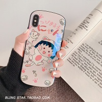 日系卡通XS Max/XR苹果X手机壳iPhoneX/6/7p/8Plus女款iphone6s套 6/6s 大头猫咪丸