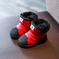 冬季儿童雪地靴女童短靴男童保暖棉鞋防滑宝宝冬鞋中小童靴子